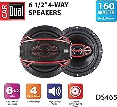 $23 » Dual DS465 4-Way 6 ½ inch Car Speakers with 160-Watt Power & 35mm Mylar Balanced Dome Midrange