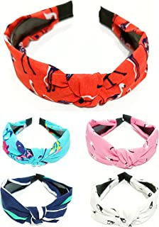 ANNA CREATIONS® Hair Accessories Korean Style Solid Fabric Knot with Tape Plastic Hairband Headband for Girls and Woman 5 PCS