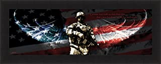 No Greater Love by Jason Bullard 16x40 Soldier Military Patriotic Inspirational Framed Art Print Wall Décor Picture