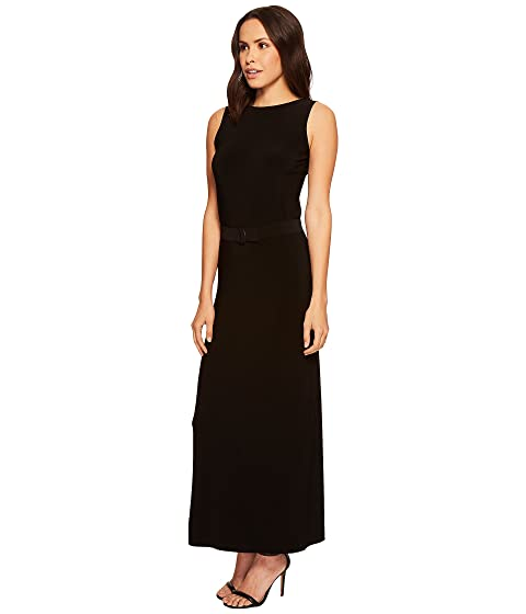 Kamali con sin by mangas espalda baja Norma vestido negro KAMALIKULTURE qwxEB4n