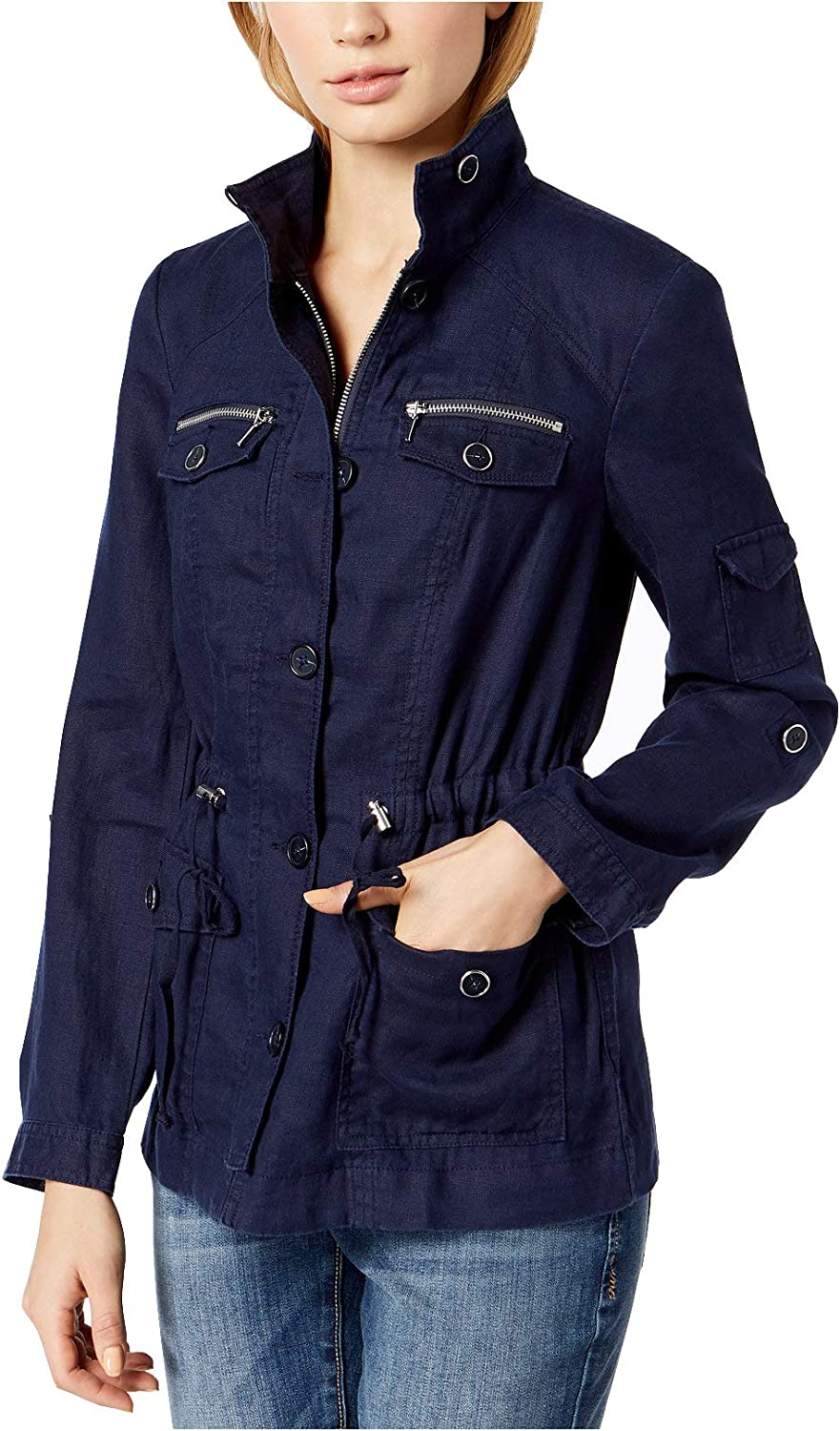 INC International Concepts  Women's Linen Utility Jacket