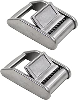YYST Stainless Steel 316 Cam Flap Buckles Press Cam Buckles Tie Down Buckle for 1 25mm Webbing Strap (2/PK) - No Webbing