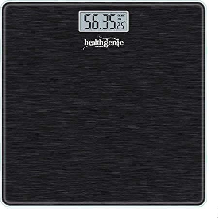 Healthgenie Electronic Digital Weighing Scale, Bathroom Personal Weighing Scale - (Brushed Black)