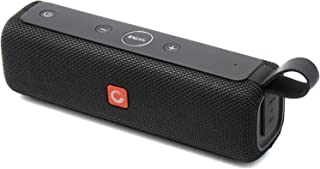 DOSS E-go II Portable Bluetooth Speakers with Superior Sound and Extra Bass, IPX6 Waterproof, Built-in Mic, 12W Driver, 12-Hour Playtime, Wireless Speakers for Outdoor, Travel and More - (Black)