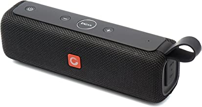 DOSS E-go II Portable Bluetooth Speakers with Superior Sound and Extra Bass, IPX6 Waterproof, Built-in Mic, 12W Driver, 12-Hour Playtime, Wireless Speakers for Phone, Computers, TV and More - (Black)