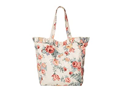 Loeffler Randall Roxana Large Nylon Tote (White Multi Floral) Handbags