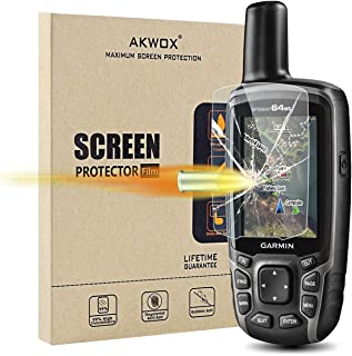 (Pack of 4) Tempered Glass Screen Protector for Garmin GPSMAP 62 64 64s 64st, Akwox 0.3mm 9H Hard Scratch-Resistant Protec...
