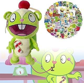 1/2pcs Happy Tree Friends Plushies with 50pcs HTF Stickers,HTF Flaky/Flippy/Nutty/Fliqpy Soft Stuffed Animals Doll Gift fo...