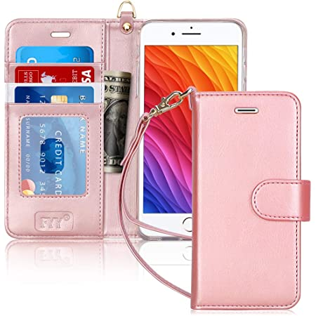iPhone 7 Plus Flip Case Cover for Leather Wallet Cover Kickstand Card Holders Luxury Business Flip Cover
