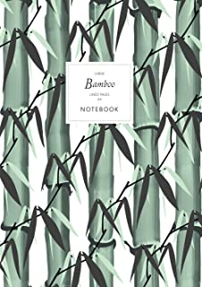 Bamboo Notebook - Lined Pages - A4 - Large: (White Edition) Notebook 192 lined pages (A4 / 8.27x11.69 inches / 21x29.7cm)