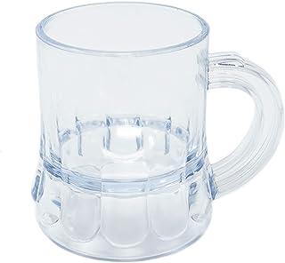 "Mini Clear Plastic Beer Mug Shot Glasses- 1.75"" Tall - (12 Count)"