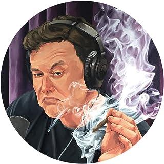 Elon Musk Smoking Joe Rogan Show Podcast Sticker Phone Case Bumper Decal