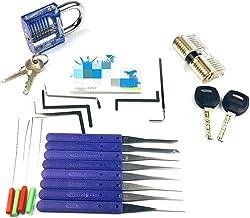 Lock Pick Set Broken Keys Extractor met Transparante Sloten voor Slotenmaker Gereedschap Oefenen en Training Skills Lock P...