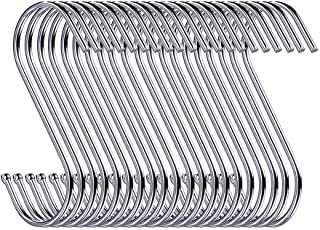 20 Pack Heavy Duty s Hooks Stainless Steel S Shaped Hanging Hooks 3.5