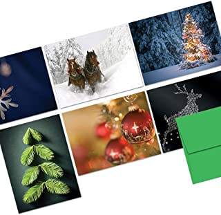 Note Card Cafe Christmas Card Assortment with Envelopes | 72 Pack | Blank Inside, Glossy Finish | Tis the Season | Box Set for Holidays, Winter, Gifts, Presents, Secret Santa, Work Parties (Renewed)