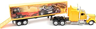 NewRay 15843 1:43 Trailer Kenworth W900 All White Diecast Vehicle, One Size, Long Haulter 1/43 Scale