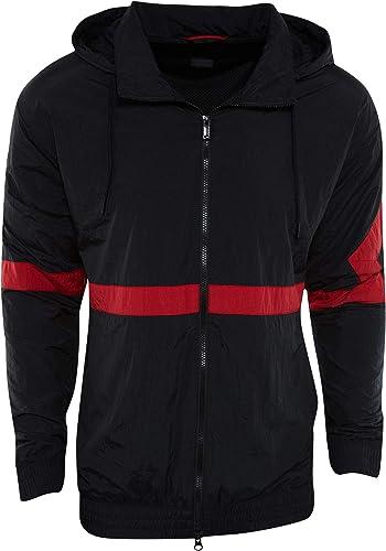 Nike Jsw Diamond Track JKT Veste, Homme, MultiCouleure (noir noir Gym rouge Gym rouge)