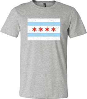 UGP Campus Apparel Chicago City Flag Distressed - Illinois, Hometown Pride T Shirt