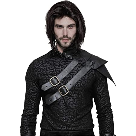 Mens Faux Leather Armor Body Chest Harness Belt Costume Halloween Party Dress Up