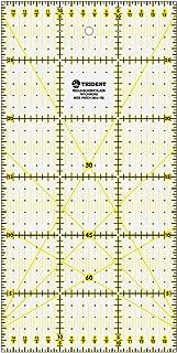 Régua para Patchwork, Escalas em mm, em Acrílico 3 mm – Trident, PT.300X150, Cristal 30 x 15 cm