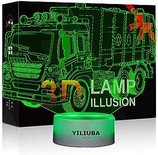 YILIUBA Car Gift Night Lights for Kids 3D Lamp LED Desk...