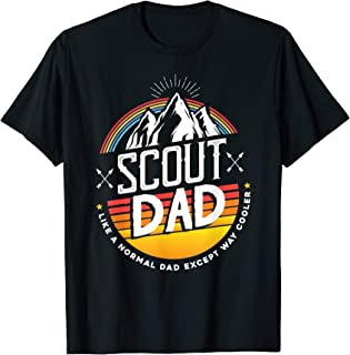Retro Scout Dad T Shirt for Camping Lovers T-Shirt