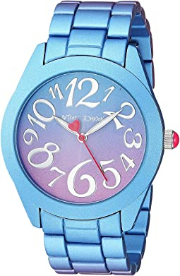 BJ00706-01 - Purple & Blue Stainless Steel Case Watch