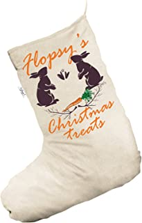 TWISTED ENVY Pet Rabbit Christmas Treats with Carrot Personalised Jumbo Natural Santa Claus Christmas Stockings