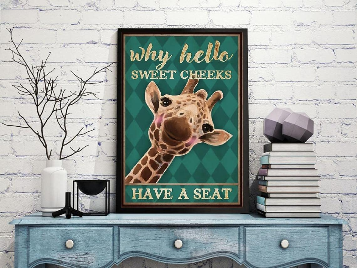 Why Hello Sweet Cheeks Nursery High specialty shop material Giraffe Baby