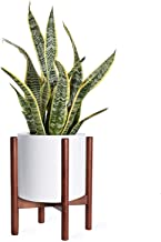 Kingbuy Plant Stand Mid Century Wood Flower Pot Holder, Simple Display Potted Rack, Modern Home Decor (Note: Plant Pot and Plant are not Included), 10inch Brown