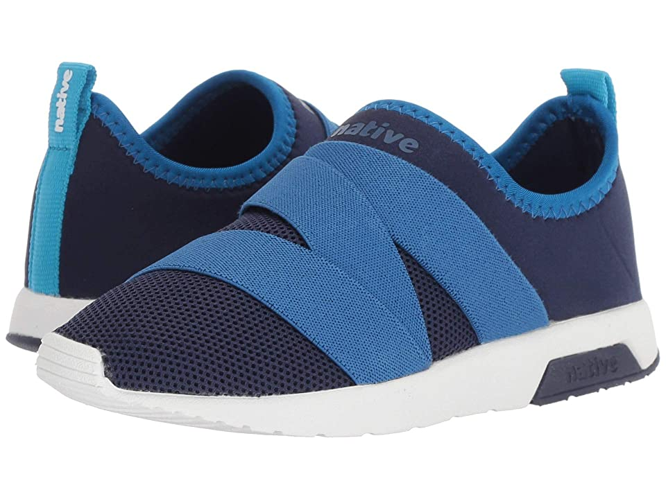 Native Kids Shoes Phoenix (Little Kid) (Regatta Blue/Victoria Blue/Shell White) Kids Shoes