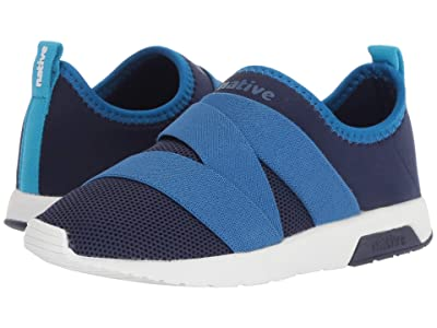 Native Kids Shoes Phoenix (Little Kid) (Regatta Blue/Victoria Blue/Shell White) Kids Shoes