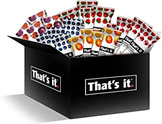 That's it Fruit Bars Snack Gift Box { 20 Pack }100% All Natural, Gluten-Free, Vegan, Low Carb Snacks - Healthy Fruit Snacks Bulk Variety Pack(Strawberry, Mango, Blueberries, Cherries & Fig Bars)