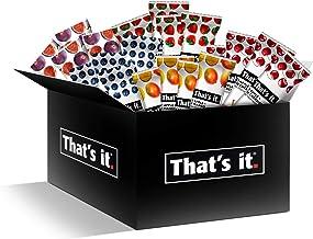 That's it Fruit Bars Snack Gift Box { 20 Pack }100% All Natural, Gluten-Free, Vegan, Low Carb Snacks - Healthy Fruit Snacks Bulk Variety Pack(Strawberry, Mango, Blueberries, Cherries & Fig Bars)