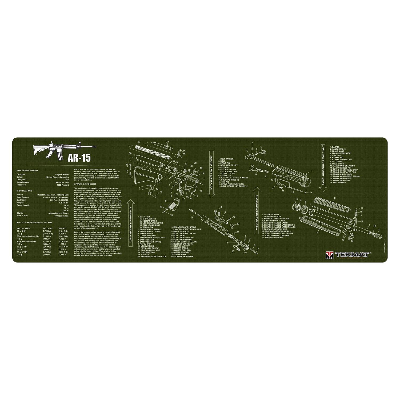 TekMat Gun Cleaning Mat AR 15