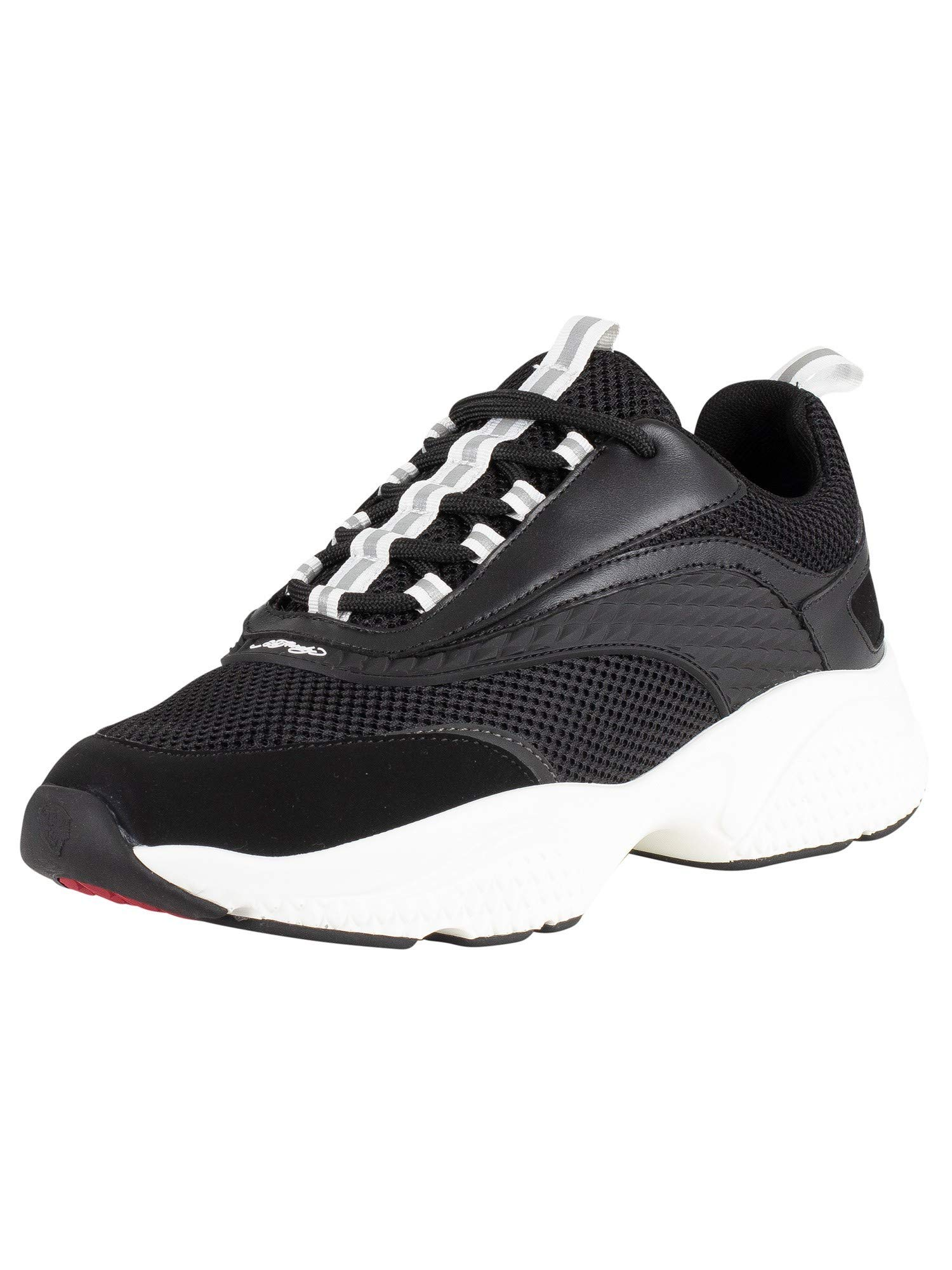 Scale Chunky Runner Trainers, Black