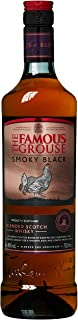 The Famous Grouse Smoky Black Blended Scotch Whisky, volle, leicht rauchige Aromen, 40% Vol, 1 x 0,7l