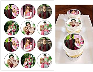 Edible Disney Zombies Cupcake Toppers, birthday decorations, 12 cupcake toppers, cake decoration