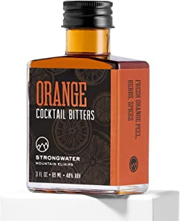 Strongwater Orange Cocktail Bitters (3 Fl Oz) Spiced Bitters Made with Orange Zest, Cardamom & Black Walnut - Pair with Whiskey, Bourbon, Vodka, Rum, or Gin