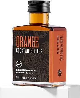 Strongwater Orange Cocktail Bitters - Organic Orange Zest, Perfect Pairing with Whiskey, Bourbon, Vodka, Rum, or Gin - 3 fl oz
