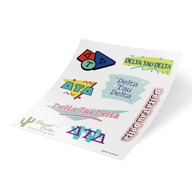 Delta Tau Delta 90's Themed Sticker Sheet Decal Laptop Water Bottle Car Delts (Full Sheet - 90's)