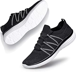 Womens Walking Shoes Tennis Shoes Mesh Slip-on Lightweight Sneakers Comfortable Athletic Shoes for Walking Running