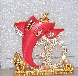 RUDRA DIVINE Lord OM Ganesh Idol/OM Ganesha Idol/Ganpati Vinayaka Metal Statue for Car Dashboard/Mandir Pooja Murti/Temple Puja/Home Decor/Office Showpiece
