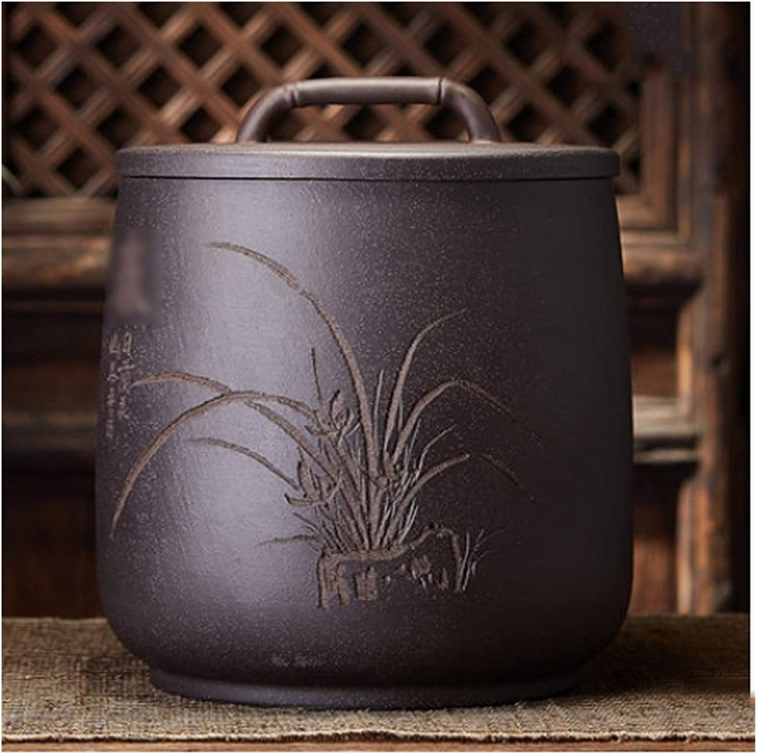 OMING Decorative security Urns Purple Clay Tea Stor Large Caddy Our shop most popular Household