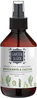 Succulent Plants & Cactus Spray by GARTEN GLÜCK | 250 ml | Natural and Organic care for plants without the use of harsh chemicals | Protect your indoor or outdoor plants with pest infestation