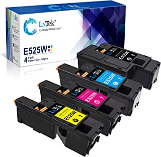 LxTek Compatible Toner Cartridge Replacement for Dell E525W E525 to use with E525W Color Laser Printer, 4 Pack (593-BBJX 593-BBJU 593-BBJV 593-BBJW)