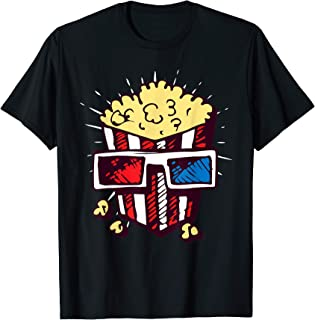 Pop Corn Container With Sunglasses Funny Movie T-Shirt