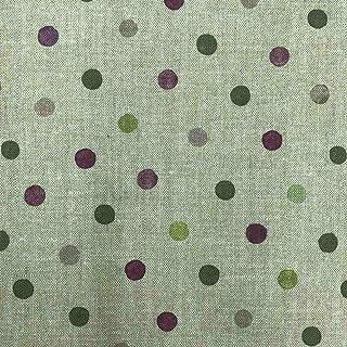 Kt KILOtela Stoff aus geharztem Segeltuch, fleckenabweisend, Länge 250 cm, Breite 140 cm, Geometrisch, Taupe – Violett, Grün, Lila – 2,5 m