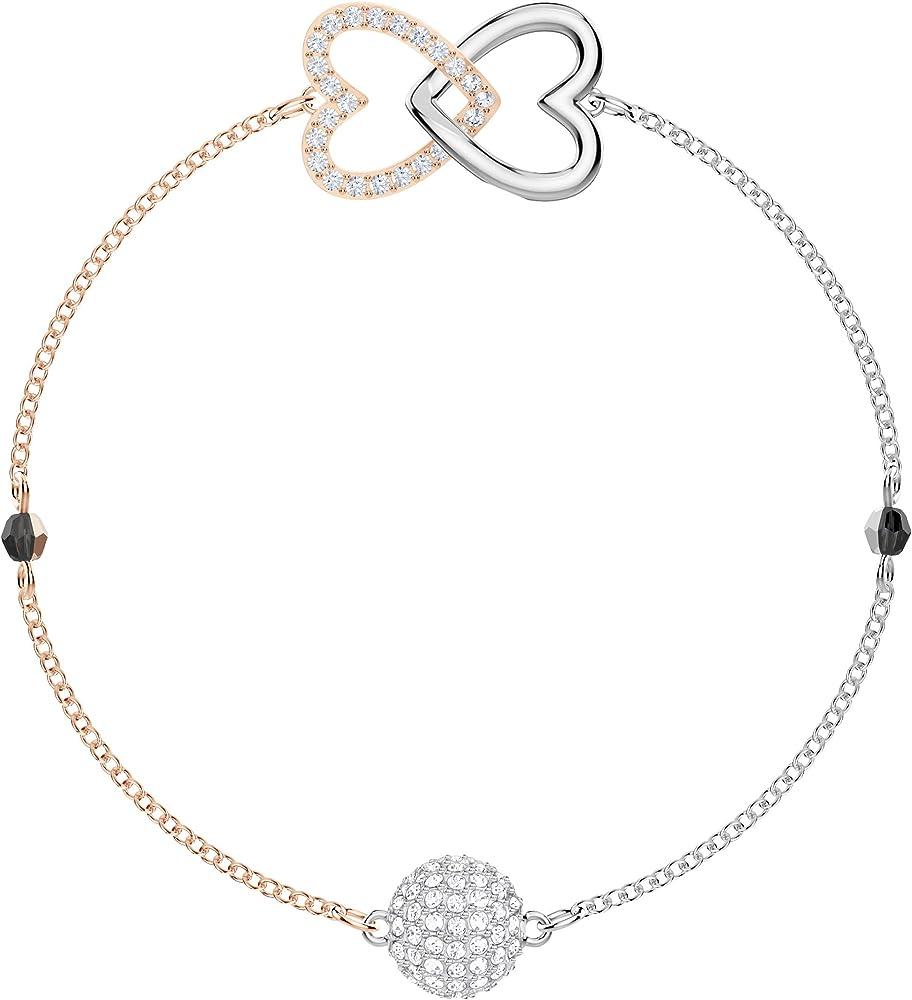 Swarovski bracciale da donna in lega di metalli placcato rodio  e impreziosito da cristallo di colore cry. 5375199