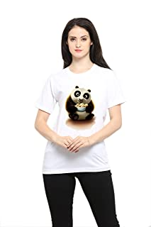 SV Cotton Panda Printed TEE:Graphic Printed T-Shirt for Men & Women | Funny Quote T-Shirt | Half Sleeve T-Shirt | Round Neck T Shirt | 100% Cotton T-Shirt | Short Sleeve T Shirt